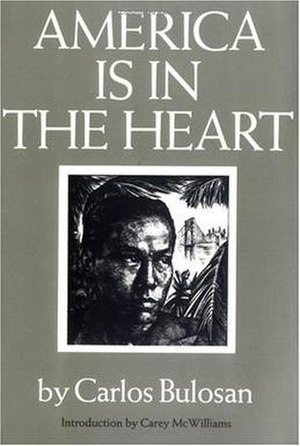 America Is in the Heart - Book cover for Carlos Bulosan's America Is in the Heart.