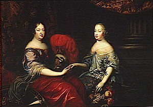 Anne of Austria and her niece, Marie-Thérèse, both Infantas of Spain and Queens of France