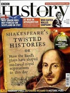 <i>BBC History</i> British magazine