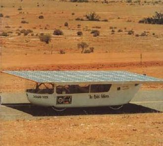 The Quiet Achiever - The Quiet Achiever solar car during its 1982-3 transcontinental journey.