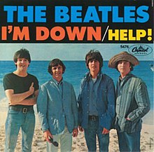 """B-side label of the """"Help!"""" single"""