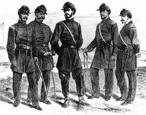 1st Louisiana Native Guard (United States) - Officers of Company C of the 1st Louisiana Native Guard at Fort Macomb, Louisiana