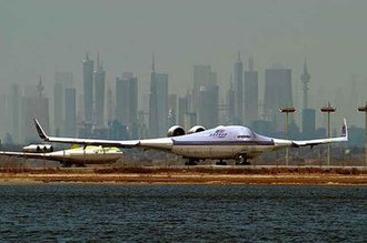 """Blended wing body - Image of the """"Boeing 797"""", used in the hoax email, first appeared in the Popular Science magazine in 2003."""