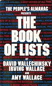 <i>The Book of Lists</i> one of a series of books by Irving Wallace and his children