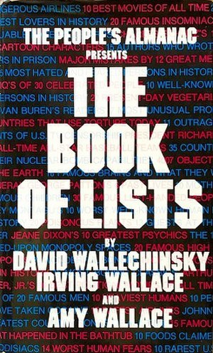 The first volume of The Book of Lists.