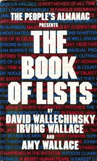 The Book of Lists - The first volume of The Book of Lists.