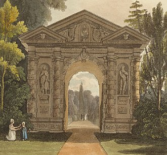 University of Oxford Botanic Garden - The Danby gateway to the Botanic Garden built in 1633.