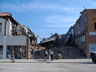 Clinton, Missouri - Collapsed Elk's Lodge