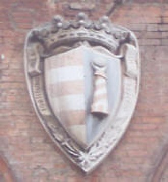 Cremona - City coat of arms of Cremona on the town hall