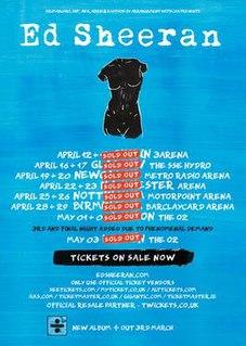 ÷ Tour 2017–19 world concert tour by English singer-songwriter Ed Sheeran