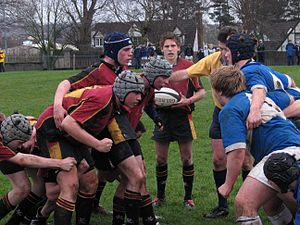 Foyle College - Action from a FALC rugby match, January 2005.