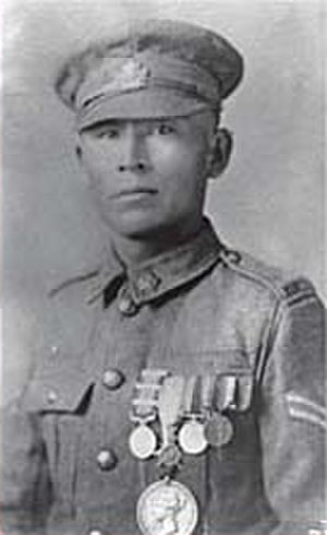 Indigenous Canadian personalities - Francis Pegahmagabow  an expert marksman and scout during WWI