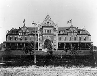 Grand View University - Old Main (now the Humphrey Center) circa 1900.