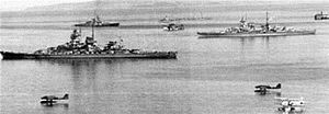 Surface flotillas of the Kriegsmarine - German surface vessels at anchor in 1942