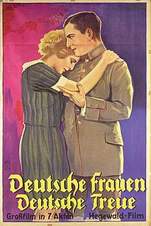 <i>German Women - German Faithfulness</i> 1927 German silent film by Wolfgang Neff