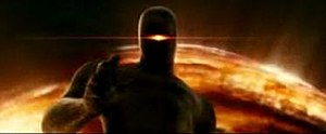 The Day the Earth Stood Still (2008 film) - The redesigned Gort and behind him, the new biological spaceship resembling an orb