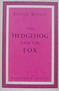 <i>The Hedgehog and the Fox</i> Isaiah Berlin book