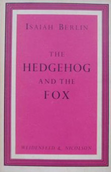 The Hedgehog And The Fox  Wikipedia Hedgehogandfoxjpg