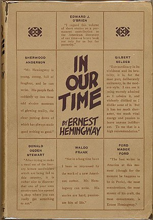 In Our Time (short story collection) - 1925 Boni & Liveright New York edition of In Our Time