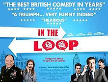 Official UK poster, showing some of the main cast (left to right: James Gandolfini, Anna Chlumsky, Tom Hollander, Peter Capaldi and Steve Coogan).