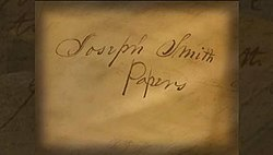 The Joseph Smith Papers TV Series title card