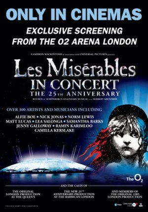 Les Misérables in Concert: The 25th Anniversary - British release poster