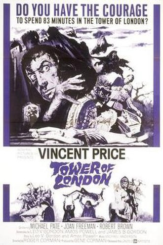 Tower of London (1962 film) - The theatrical release poster