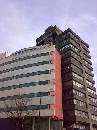 University of North London - Tower Building, Holloway Road. Originally the Northern Polytechnic; the Technology Tower was added in 2000.