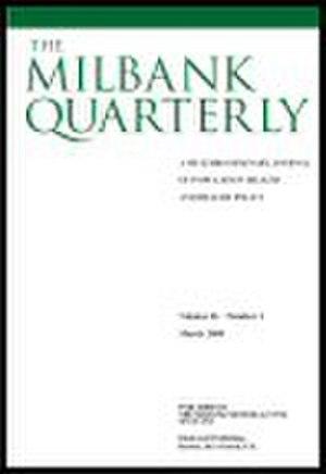Milbank Quarterly - Image: M Qcover