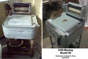 Maytag - 1928 Maytag Model 90 Wringer Washer completely restored