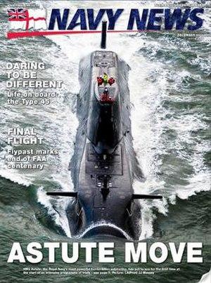 Navy News - Image: Navy News (UK) cover December 2009