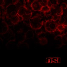 Faint, red blood droplets cover the top half of the otherwise black cover. The OSI logo, in red, is in the bottom right-hand corner.