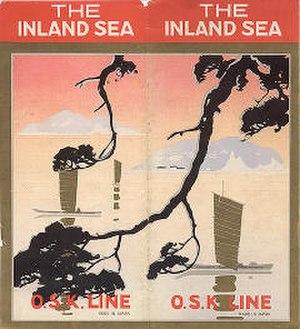 "Mitsui O.S.K. Lines - O.S.K. Line's travel brochure ""The Inland Sea,"" circa 1932."