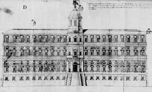 Palazzo Farnese, Piacenza - The project for the façade of Palazzo Farnese, Piacenza, by Jacopo Barozzi da Vignola.