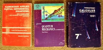 "Iran–United States copyright relations - Offset prints of popular college textbooks in Iran. The Springer textbook on Quantum Mechanics seen here is printed by ""Jahad Daneshgahi"", a government-affiliated organization."