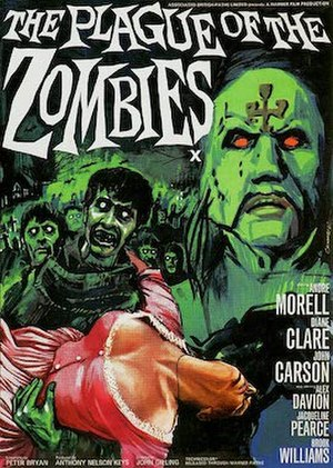 The Plague of the Zombies - 1966 theatrical poster