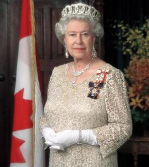 Orders, decorations, and medals of Canada - The Queen of Canada, Queen Elizabeth II, is the fount of the Canadian honours system, pictured here wearing her insignias as Sovereign of the Order of Canada and of the Order of Military Merit
