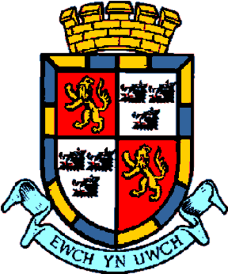 Radnorshire - Coat of arms granted to Radnorshire County Council in 1954. Now used the Radnorshire Shire Committee of Powys County Council