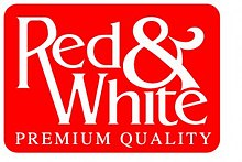 red and white logo brand