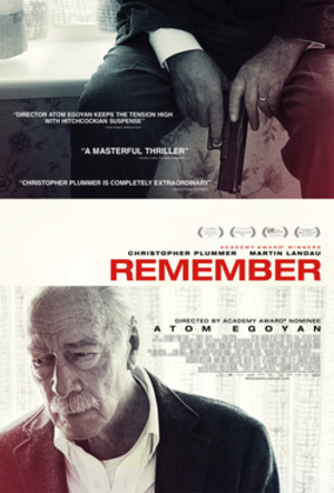 Remember (2015 film) - Theatrical release poster