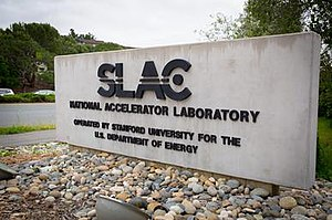 SLAC National Accelerator Laboratory - The entrance to SLAC in Menlo Park.