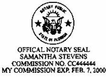 Notary public florida wikipedia seal requirementsedit sample florida notary stamp ccuart Choice Image