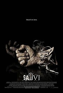 Gears and machinery form the shape of a Ⅵ. The title of the film is seen near the bottom of the poster.