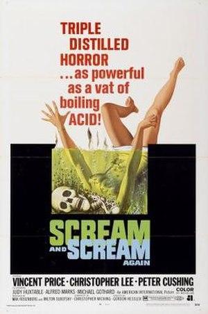 Scream and Scream Again - Image: Scream and Scream Again Film Poster