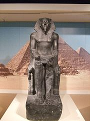 Ancient Egyptian statue of the pharaoh Khafre (reproduction)