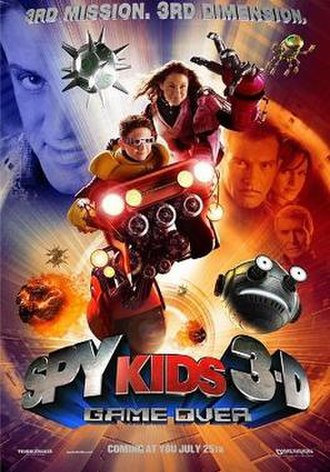 Spy Kids 3-D: Game Over - Theatrical release poster