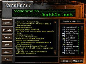 Battle.net - The Battle.net interface in StarCraft