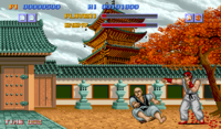 Street Fighter, a one-on-one fighting game