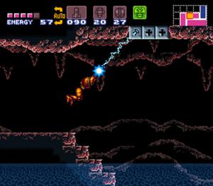 Super Metroid - Image: Super Metroid Grapple Beam