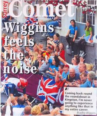 Surrey Comet - Surrey Comet front page from August 2012